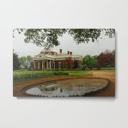 Morning At Monticello - Jeffersons Home Metal Print
