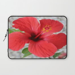 A Stunning Scarlet Hibiscus Tropical Flower Laptop Sleeve