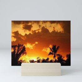 A Tropical Sunset Mini Art Print