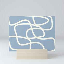 Maze in Gray Blue Mini Art Print