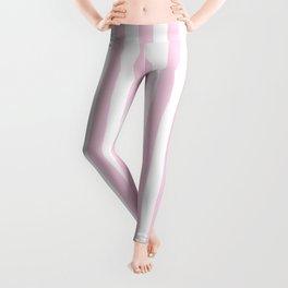 Pastel pink white modern geometric stripes Leggings