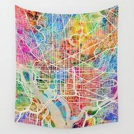Washington DC Street Map Wall Tapestry