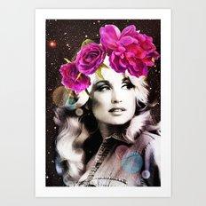 Holy Dolly (dolly parton) Art Print