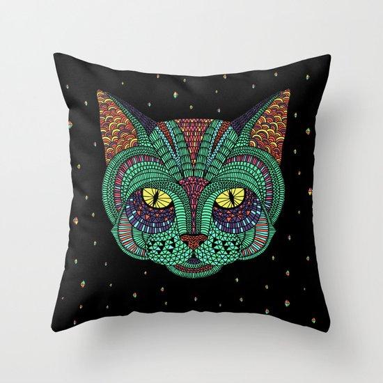 Intergalactic Cat Throw Pillow