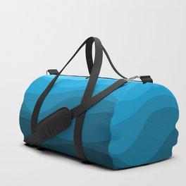 Blue wavy ocean Duffle Bag