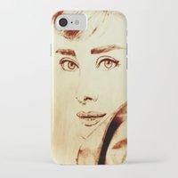 audrey hepburn iPhone & iPod Cases featuring Audrey Hepburn by Farinaz K.