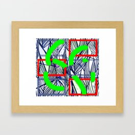 Collage with leaves Framed Art Print