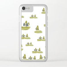 Varigated pine forest Clear iPhone Case