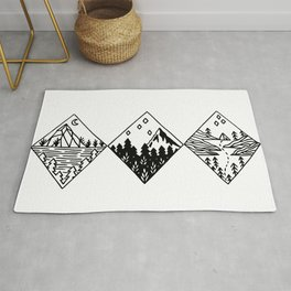 Mountain Landscape Rug