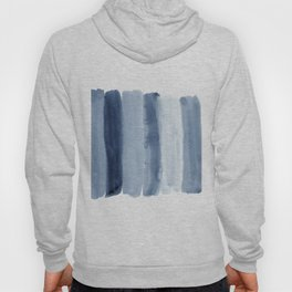 Absctract shades of blue watercolor print Hoody
