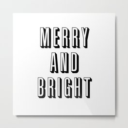 Merry and Bright Metal Print