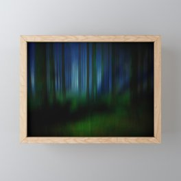 night in the magical forest Framed Mini Art Print