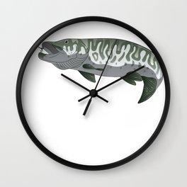 Musky Muskie Pike Muskellunge Fishing Fisherman Wall Clock