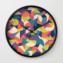 Trendy Abstract Geo Wall Clock