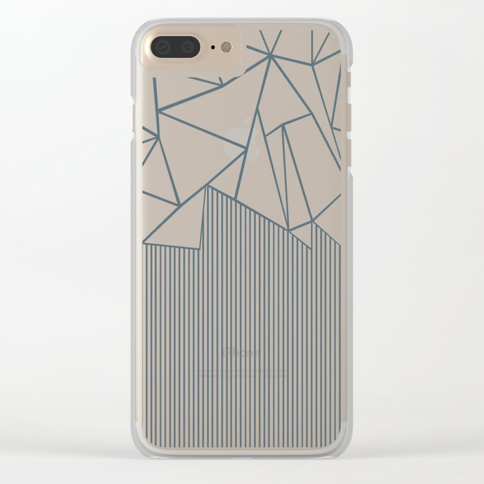 Ab Lines Blues Clear iPhone Case