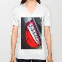 mercedes V-neck T-shirts featuring Mercedes-Benz SL 63 AMG Bi-Turbo Back Light by Mauricio Santana