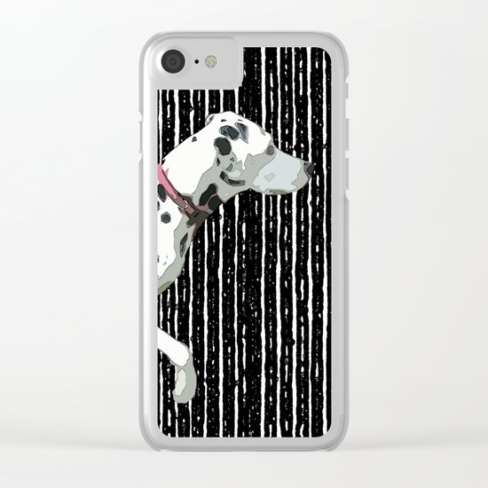 Lily on black Clear iPhone Case