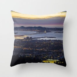Magic Hour of the SF Bay Area Throw Pillow
