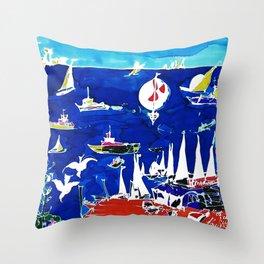 The Marina, Southport, Qld. AUSTRALIA Throw Pillow