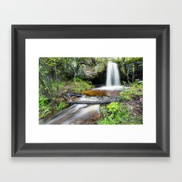 Scott Falls in Spring - Au Train Michigan Framed Art Print