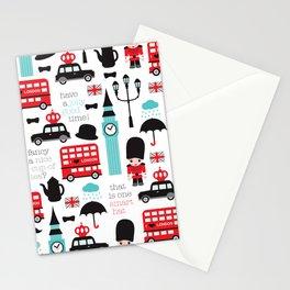 London icons illustration pattern print Stationery Cards