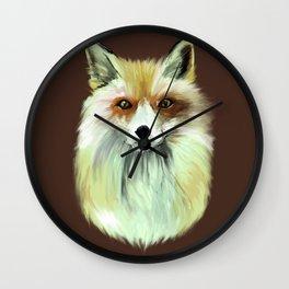 Pale Red Fox Wall Clock