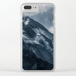 Cold morning in Alps Clear iPhone Case