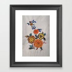 Felt pen floral fun Framed Art Print