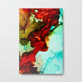 Abstract Lady Metal Print