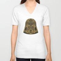 darth vader V-neck T-shirts featuring Darth Vader by Nathan Owens