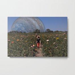 Picking Flowers on Ganymede Metal Print