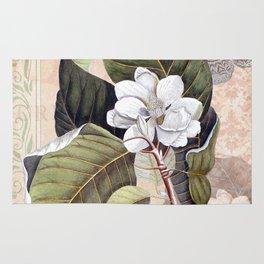 Vintage White Magnolia  Rug