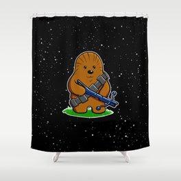 Galactic Teddy Bear Shower Curtain