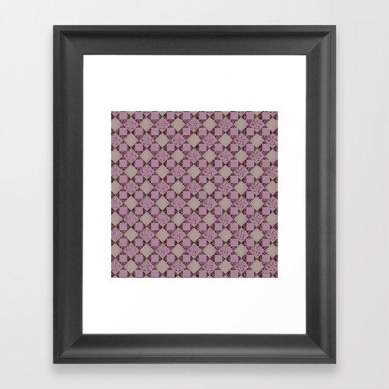 pattern (pale pink#2) Framed Art Print
