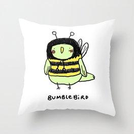 Bumblebird Throw Pillow