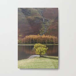 Autumnal colour. Buttermere, Cumbria, UK. Metal Print