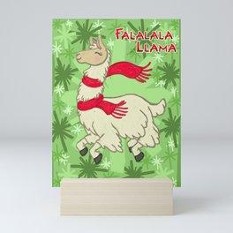 Falalala Llama! Mini Art Print
