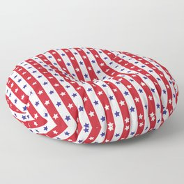 Stars and Stripes | Red White and Blue Pattern | Floor Pillow