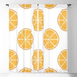 Fresh Citrus orange fruit slices pattern Blackout Curtain