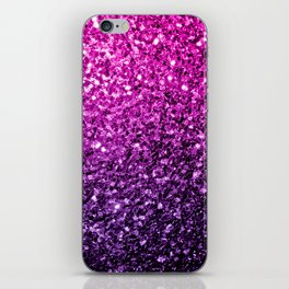Purple Pink Ombre glitter sparkles iPhone Skin