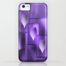 Three Hearts iPhone 5c Slim Case