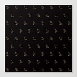 Classic Owl - Black Canvas Print