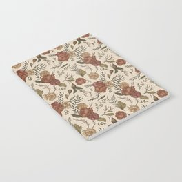 Antique Floral Pattern Notebook