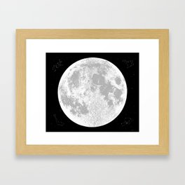 Large Natural Moon Print, by Christy Nyboer Framed Art Print
