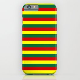 red green yellow stripes iPhone Case