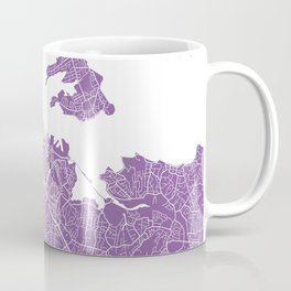 Auckland map lilac Coffee Mug