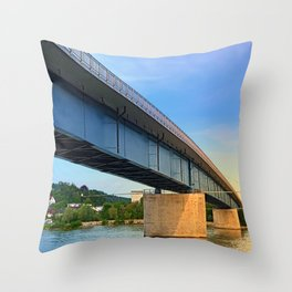 Bridge across the river Danube II | architectural photography Throw Pillow