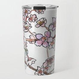 Sakura pink spring flowers Travel Mug