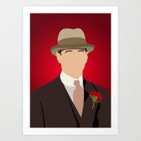 boardwalk empire Art Prints featuring Nucky Thompson - Boardwalk Empire by Tom Storrer