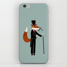 Mr Fox Takes a Stroll iPhone & iPod Skin